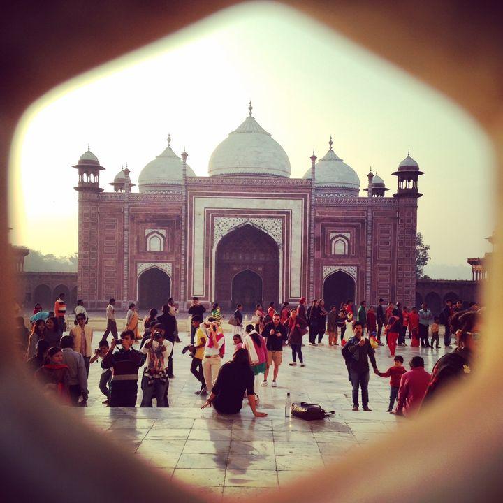 Guest house next to the Taj Mahal, Dec 2015