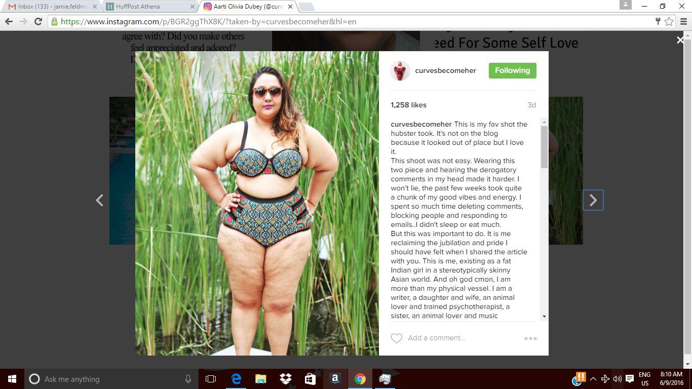 Plus-Size Blogger Schools Instagram For Removing Her Bikini