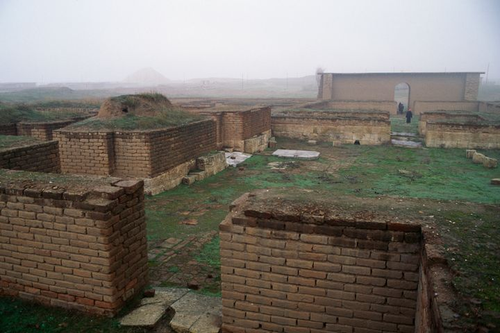 Buildings in Nimrud, Iraq. Assyrian civilisation, 13th-8th century BC.