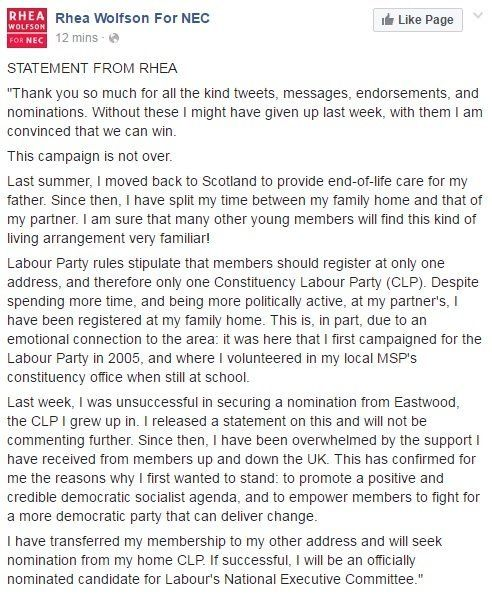 Momentum's Rhea Wolfson Revives Bid To Stand For Labour's