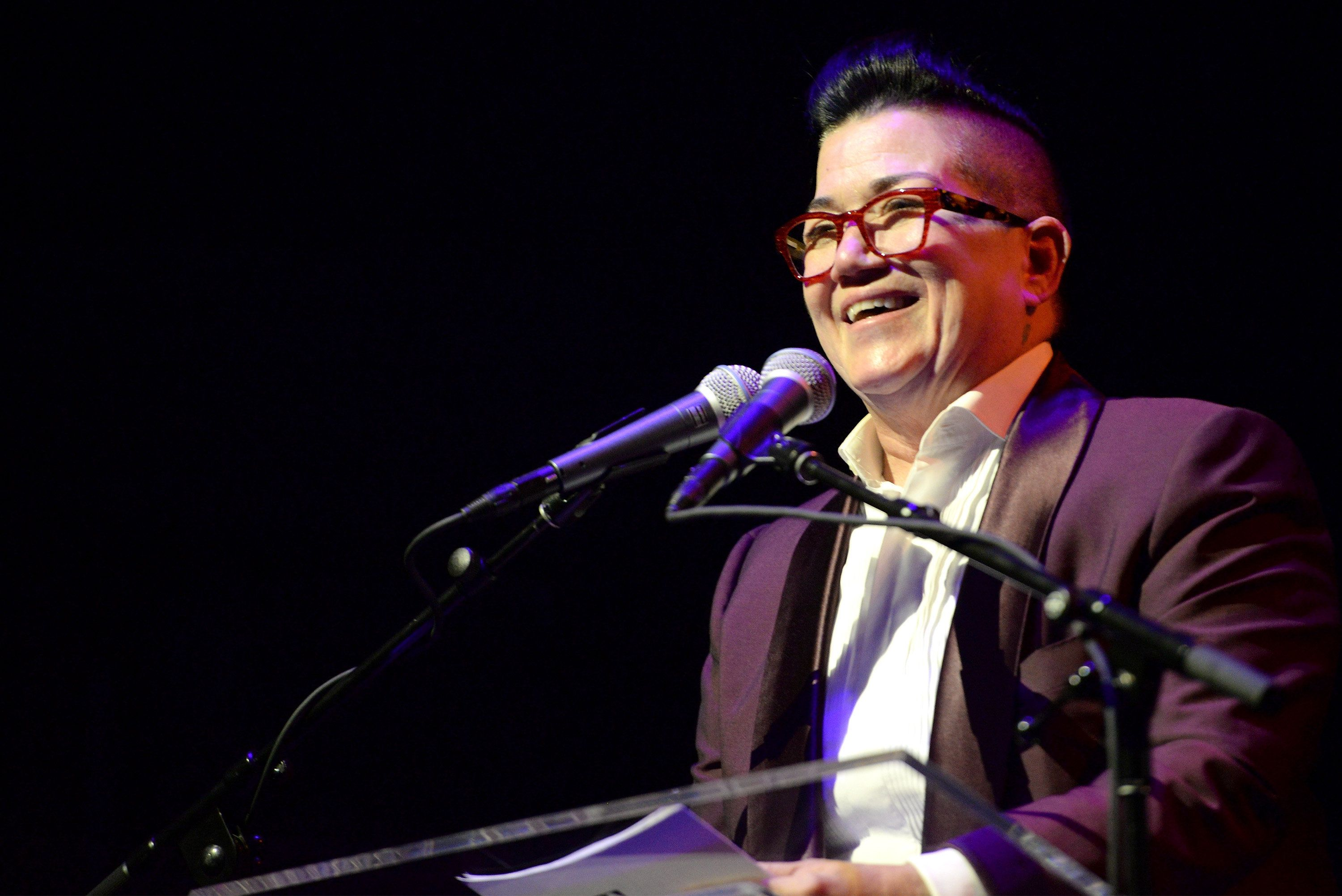 NEW YORK, NY - MAY 23: Actress Lea DeLaria speaks onstage at the 61st Annual Obie Awards at Webster Hall on May 23, 2016 in New York City.  (Photo by Mike Pont/Getty Images for American Theater Wing)
