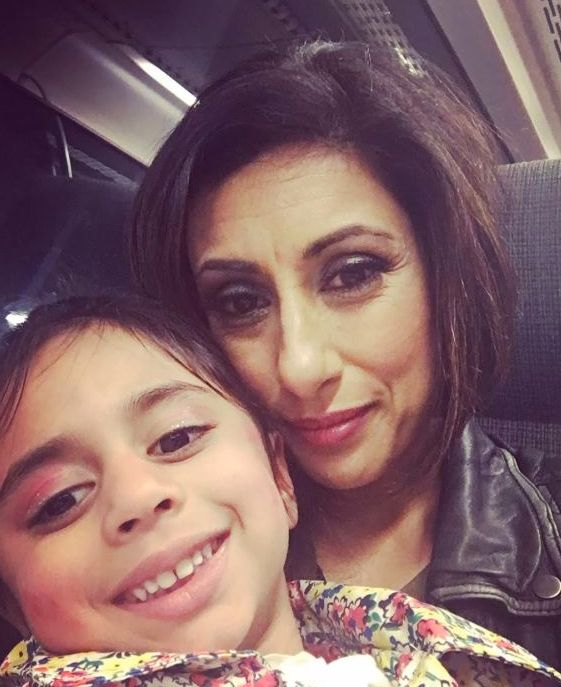 Saira Khan and her daughter Amara, now