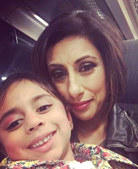 Saira Khan and her daughter Amara, now five