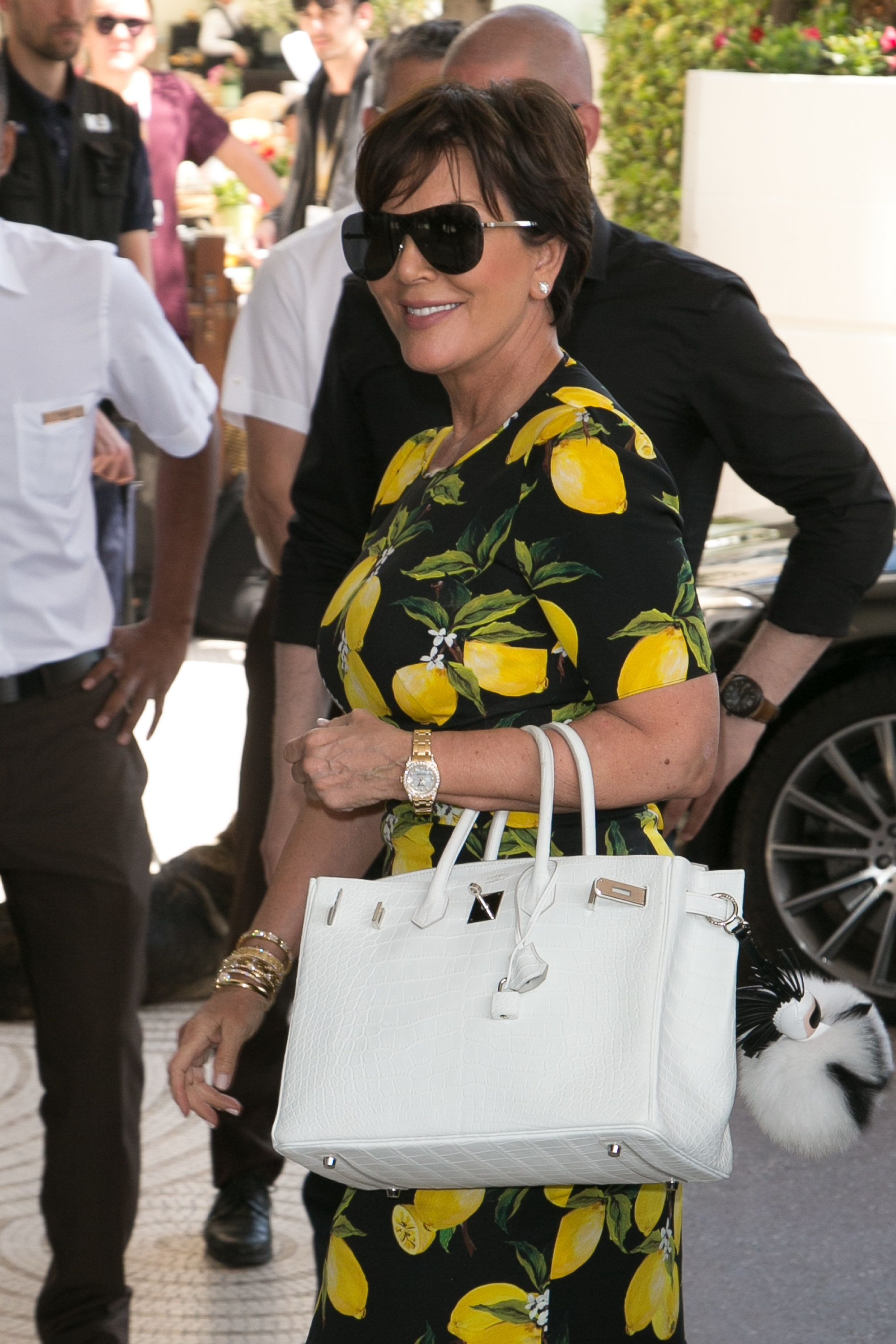 CANNES, FRANCE - MAY 17:  Kris Jenner arrives at the 'Grand Hyatt Martinez Hotel' during the annual 69th Cannes Film Festival on May 17, 2016 in Cannes, France.  (Photo by Marc Piasecki/GC Images)