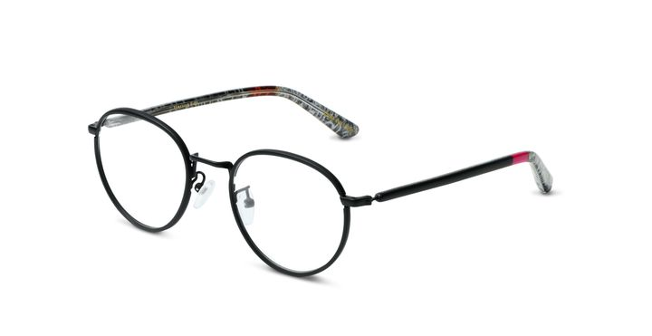 The eyewear frames are inspired by those worn by Haring during his lifetime.