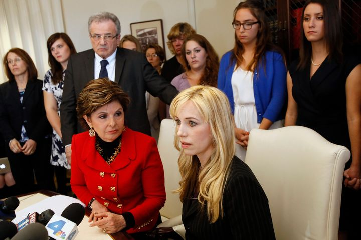 Gloria Allred represented several students who reached a settlement with Occidental over their sexual assault cases.