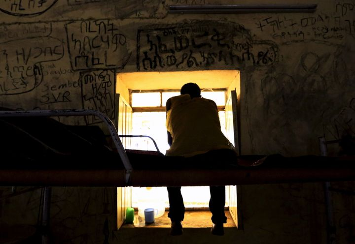 An Eritrean asylum seeker rests inside a new arrivals center in east Sudan in October 2015. EU proposals for assistance