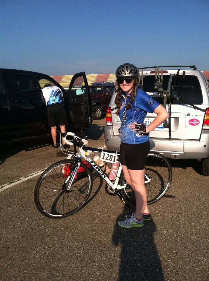 Me preparing for my 50-mile ride with Make-A-Wish