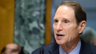 Senate Finance Committee Chairman Ron Wyden (D-OR), who is attending his first hearing as chairman after the retirement of Sen. Max Baucus (D-MT) makes opening remarks as on hearings on President Obama's Fiscal Year 2015 Budget, on Capitol Hill, in Washington, March 5, 2014. Obama is sending a $3.9 trillion budget to Congress, seeking new spending for economic growth, higher taxes on the wealthy and looking to resolve immigration issues.   REUTERS/Mike Theiler   (UNITED STATES - Tags: POLITICS BUSINESS)