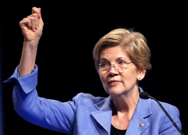 Sen. Elizabeth Warren (D-Mass.) speaks at the Credit Union National Association Governmental Affairs Conference in Washington