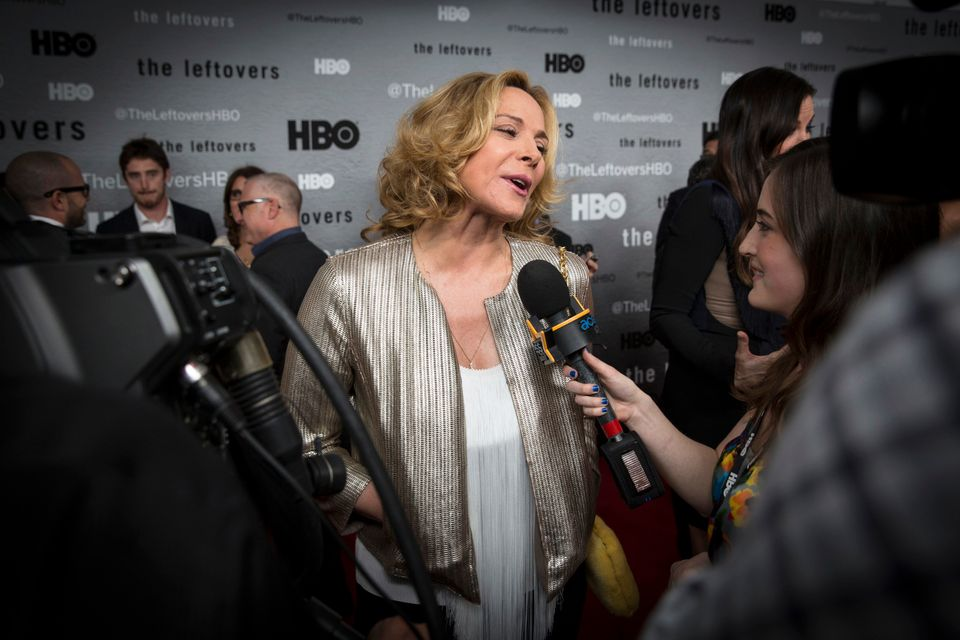 "Kim Cattrall at the season premiere of HBO's ""The Leftovers"" in New York, June 23, 2014."