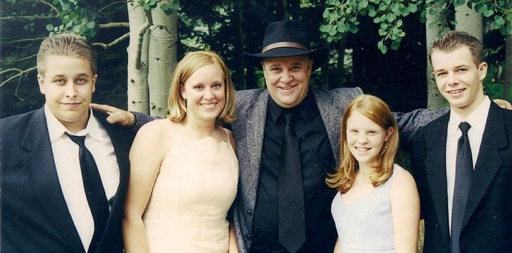 Ariane, her biological dad and her siblings in Sundance, Utah.