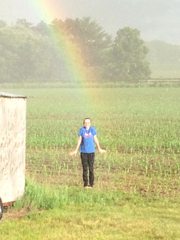 Fascinating Images Of Family Who Discovered The End Of The Rainbow On A Sunny
