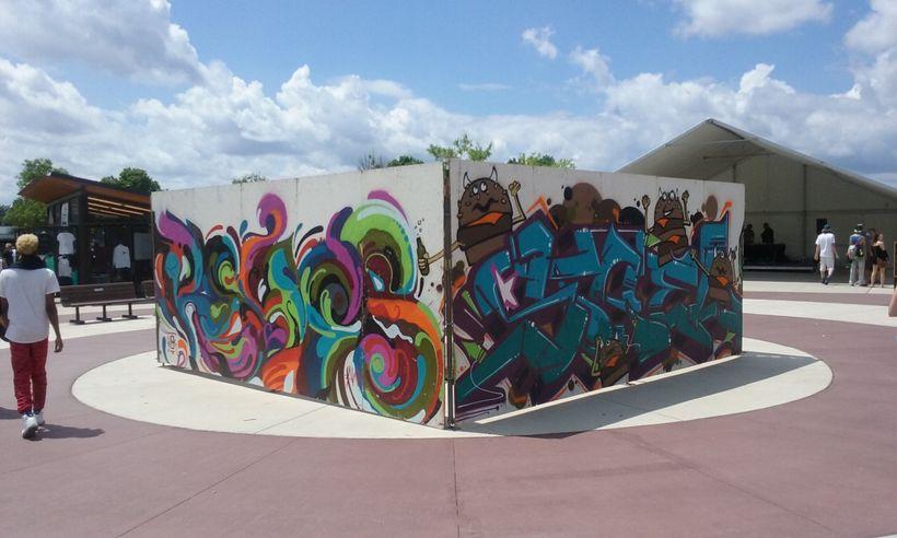 Graffiti Wall at Soundset Music Festival 2016