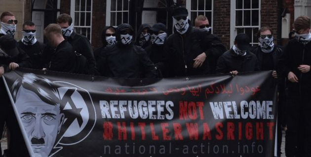 National Action activists at a demonstration in