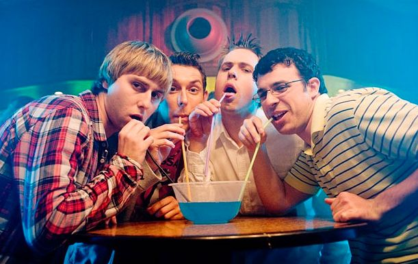 James Buckley and Joe Thomas (left and 2nd right) are teaming up for another comedic