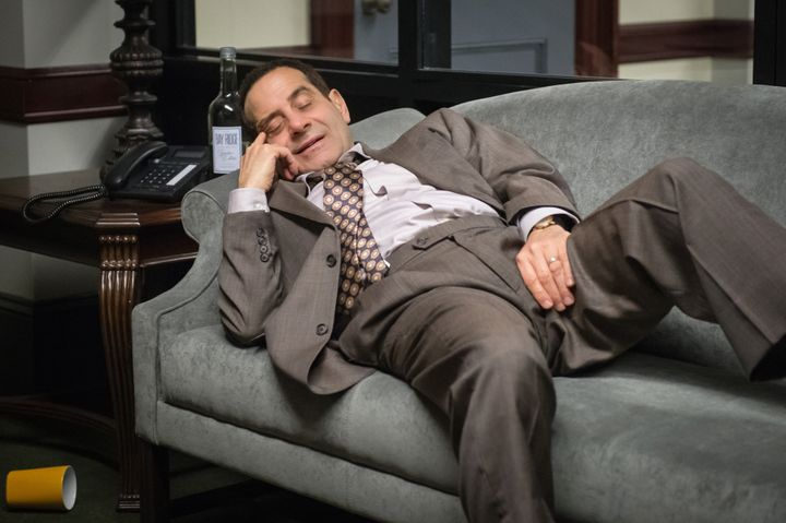 Tony Shalhoub plays Sen. Red Wheatus, a badly behaved Republican from Maryland.