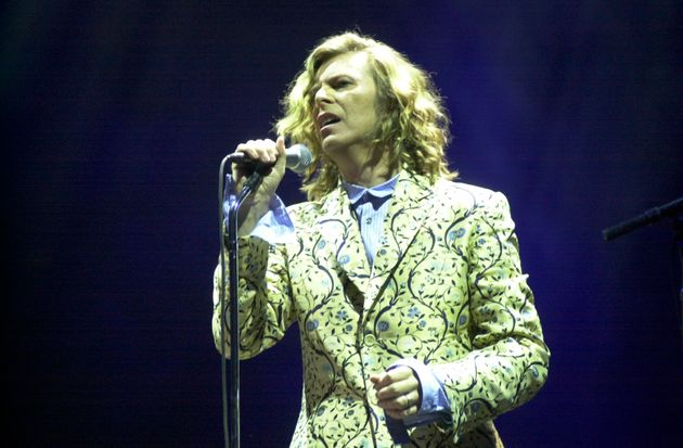 David Bowieperforming at Glastonbury in