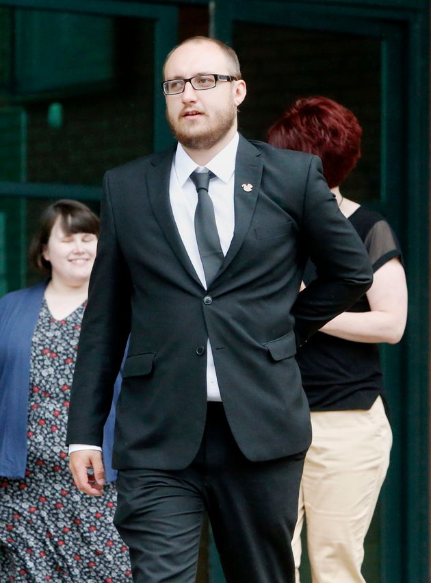 David Shaw, boyfriend of zoo keeper Sarah McClay, outside Preston Crown