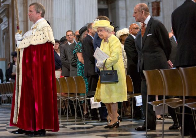 The Queen, as stylish today at 90 as she has been throughout her long