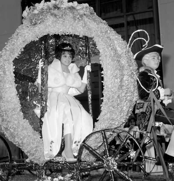 16-year-old Carmen Juarge rides down Fifth Avenue in Cinderella's carriage.