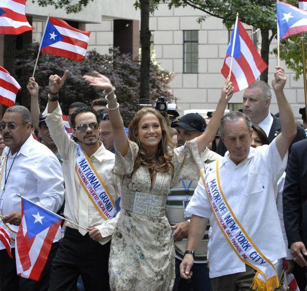 Marc Anthony served as the parade's National Grand Marshal in 2006. He was joined by then-wife Jennifer Lopez and then-Mayor