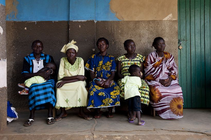 Clients wait outside the Saint Bakhita Health Centre in Yei. The health repercussions of losing a highly skilled frontline he