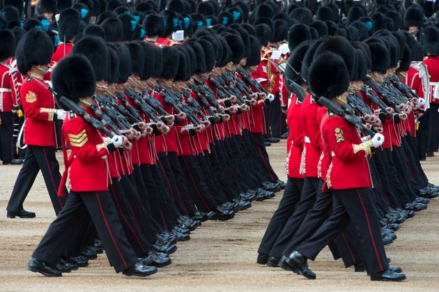 Trooping the Colour at Horse Guards Parade,