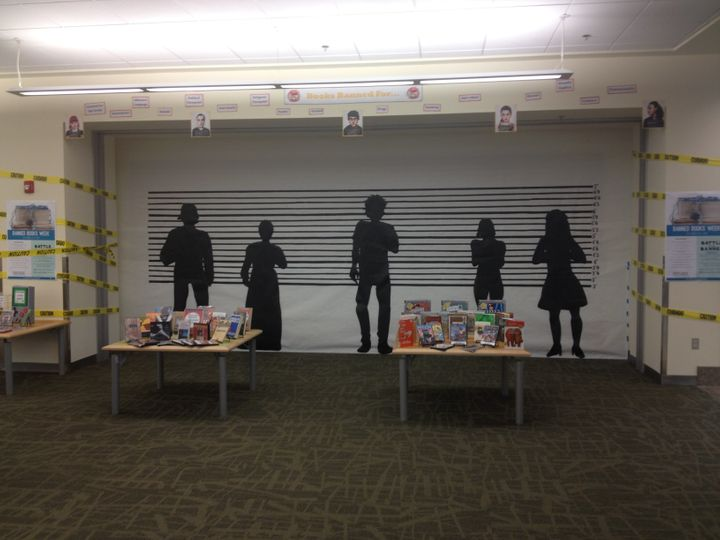 The Banned Books Week display.