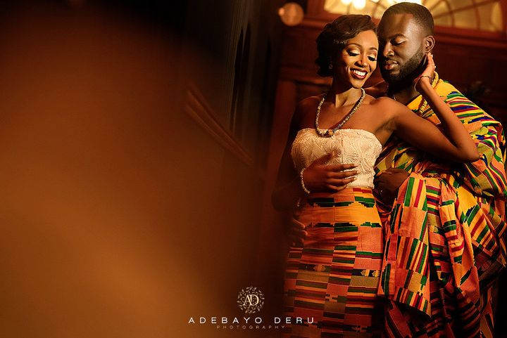 The wedding was a fusion of Gabriel and Annabella's Tanzanian and Ghanaian cultures.