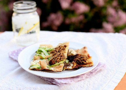 "<strong>Get the <a href=""http://www.annies-eats.com/2012/04/19/grilled-flatbread-with-morels/"" target=""_blank"">Grilled Flatbr"