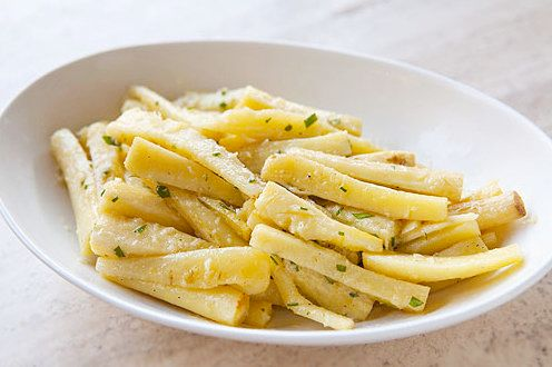 "<strong>Get the <a href=""http://www.simplyrecipes.com/recipes/roasted_parsnips/"" target=""_blank"">Roasted Parsnips recipe</a>"