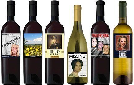 Information about unsolved cases isnow being featured on bottles of wine.