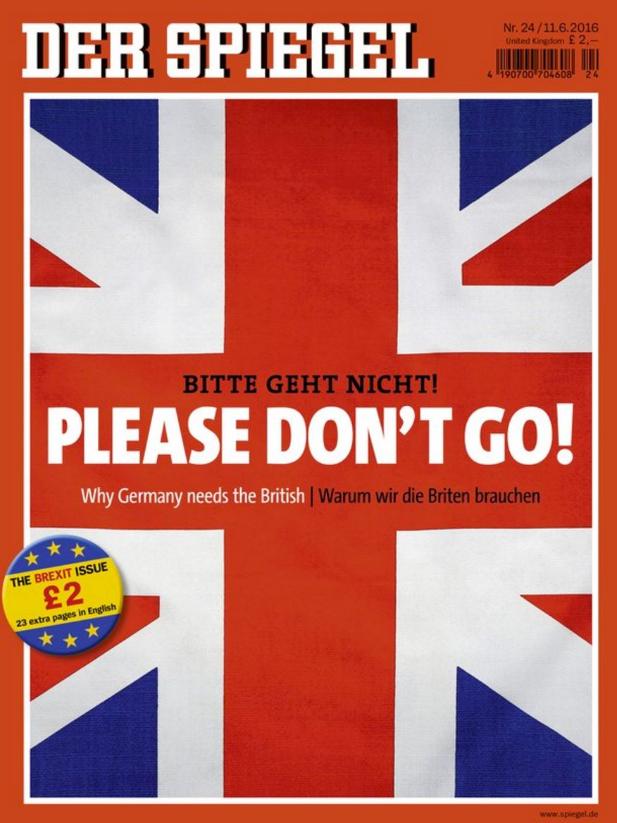 German Magazine Implores Britain 'Please Don't Go' In Special Brexit