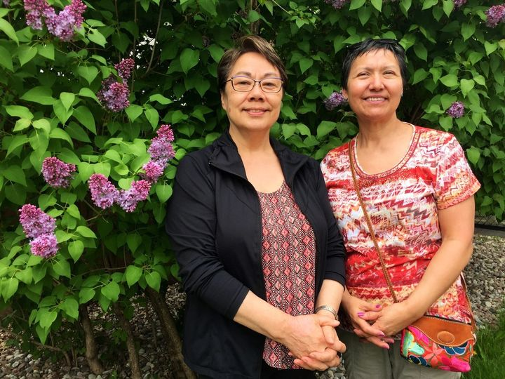Eva Aariak (left) and Leena Evic (right) are two of Nunavut'€™s top language experts.