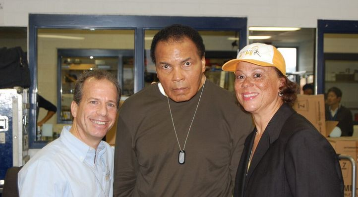 Ivan Blumberg, Muhammad Ali and his wife Lonnie Ali at an Athletes for Hope workshop.