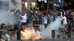 Shocking Scenes As Euro 2016 England Fans Clash With Police In Marseille.