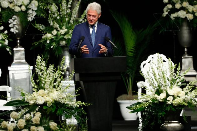 President Bill Clinton speaks during a memorial service for boxing legend Muhammad Ali on June 10, 2016...