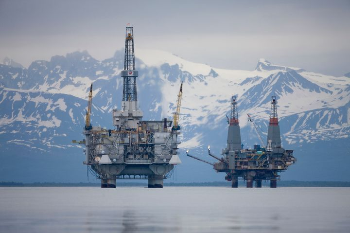 The Cook Inlet basin contains large oil and gas deposits including several offshore fields.