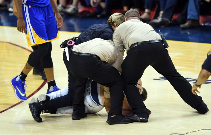 d4679565f0ef9 A Guy With  Trump Sucks  On His Chest Was Cuffed At The NBA Finals ...