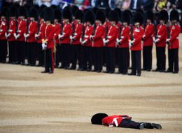 Soldier Collapses Face-Down In Middle Of Trooping The Colour