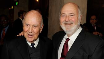 BEVERLY HILLS, CA - FEBRUARY 07:  Actors/directors Carl Reiner (L) and his son Rob Reiner arrive at AARP Magazine's '10th Annual Movies For Grownups' Awards Gala at the Beverly Wilshire Hotel on February 7, 2011 in Beverly Hills, California.  (Photo by Kevin Winter/Getty Images)