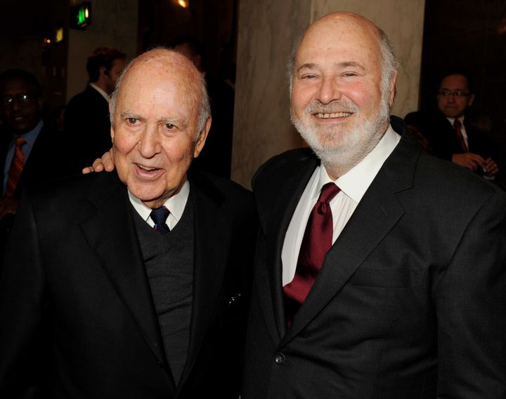 Carl Reiner (L) appearswith his son Rob. The father and son share a passion for directing, acting -- and attacking&nbsp