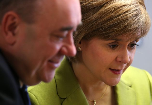 Alex Salmond and his successor as First Minister, Nicola