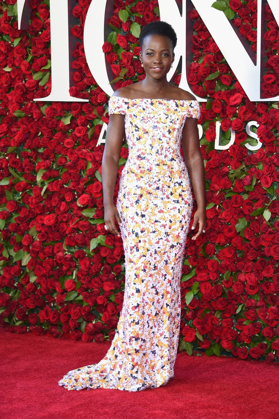NEW YORK, NY - JUNE 12:  Lupita Nyong'o attends the 70th Annual Tony Awards at The Beacon Theatre on June 12, 2016 in New Yor