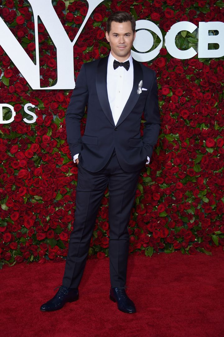 Andrew Rannells attends the 70th Annual Tony Awards at The Beacon Theatre.