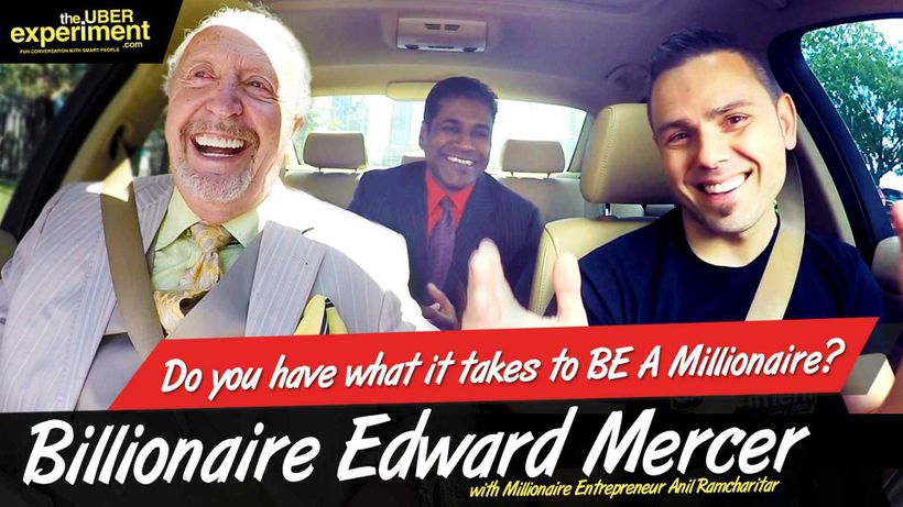 Screen-grab courtesy of The Uber Experiment Business Comedy Reality Show. Billionaire Ed Mercer (left), Business Partner