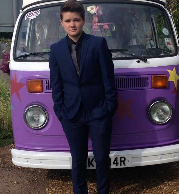 Ellis pictured on his prom night in