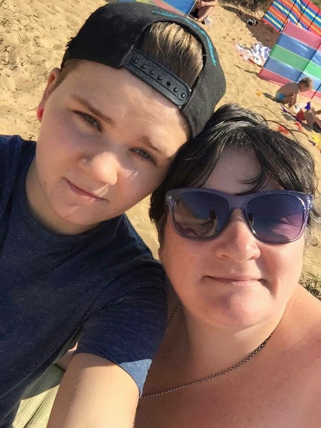Ellis with his mumTracy Saggers in a recent