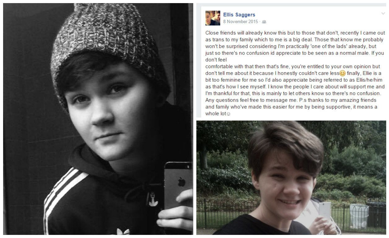 Transgender Teen Used Facebook To Announce Their New Identity To The